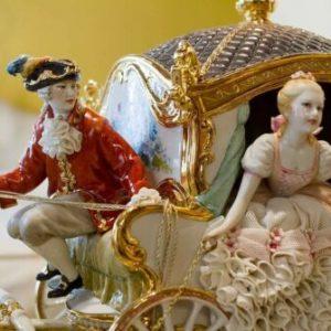 Porcellana di Capodimonte, La Carrozza Grande con 4 cavalli. –  The Big Coach