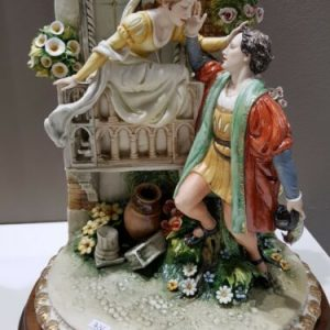 Porcellana di Capodimonte. Romeo e Giulietta. Formidabile creazione.