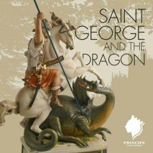 Porcellana Capodimonte.San Giorgio e il Drago. Fantastica creazione