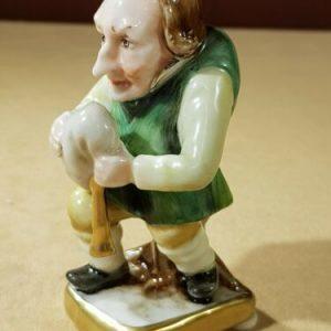 Porcellana di Capodimonte. Gnomi porta fortuna. Collezione di 6 Pezzi. Rara