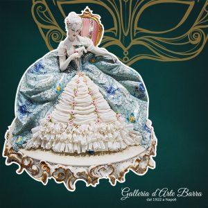 Porcellana di Capodimonte. Dama con maschera. Versione Tulle di porcellana