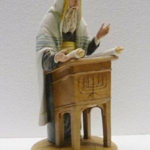 Porcellana di Capodimonte. Il Rabbino legge il Sefer Torah. Ebraico