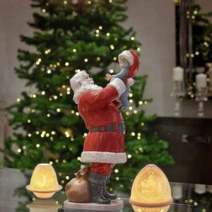 Porcellana artistica by Lladró. Aspettando Babbo Natale. Santa Claus