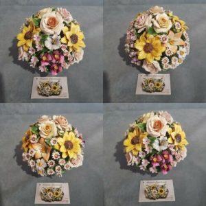Porcellana Capodimonte, Boccia di fiori assortiti. Micro fiori + Fiori grandi