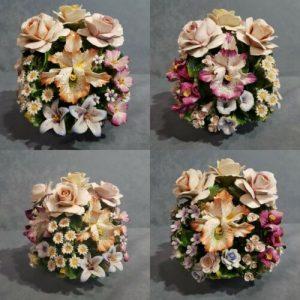 Porcellana Capodimonte, Centro di fiori assortiti. Micro fiori più Fiori grandi