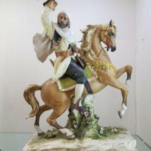 Porcellana di Capodimonte. A caccia con il Falco. Hunting with Hawk