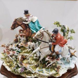 Porcellana di Capodimonte, Caccia alla volpe, Battuta di Caccia.
