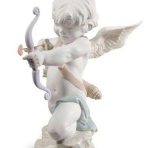 Porcellana artistica in Biscuit. Angelo,Cupido.Dritto al cuore