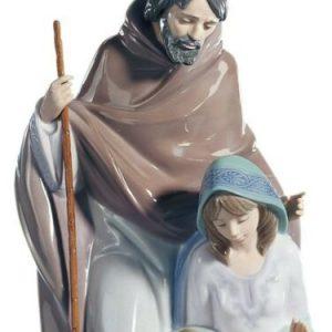 Porcellana Artistica lucida. By Lladró Sacra Famiglia Natività, Presepe.