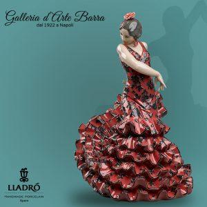 Porcellana artistica. Ballerina spagnola di Flamenco