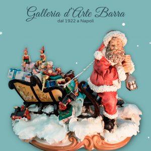 """Porcellana di Capodimonte """"Babbo Natale con Slitta"""""""
