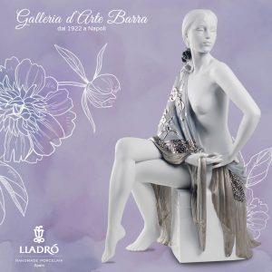 Porcellana artistica in  Biscuit. Nudo con scialle