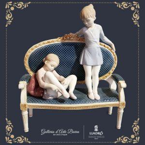 Porcellana artistica by Lladró Ballerine, Pronte per le prove.Edizione limitata