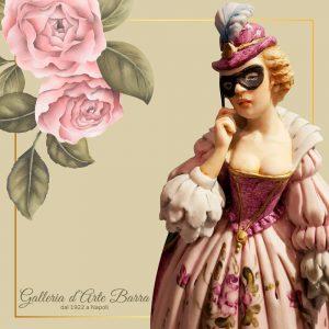 Porcellana di Capodimonte, Maschera Carnevale, Flaminia super realistica