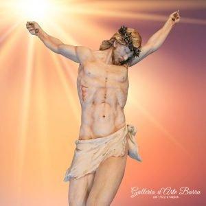 Porcellana di Capodimonte – Grande CRISTO – Meraviglioso decorato a mano