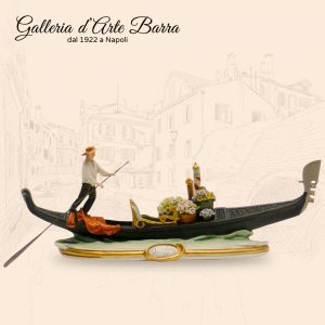 Porcellana di Capodimonte, La Gondola Veneziana. Con Fiori