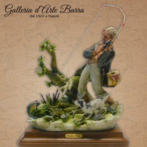 Porcellana di Capodimonte. Il Pescatore –  imponente creazione