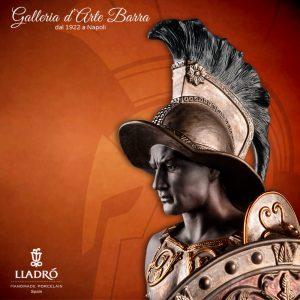 Porcellana artistica by Lladró. Scultura il Gladiatore.