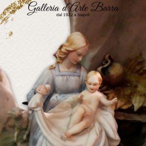 Porcellana di Capodimonte. Natività, Presepe, Sacra Famiglia. Creazione.
