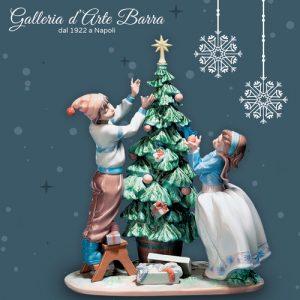 Lladró Porcellana Artistica.By Lladró. Figurina scultura, L'albero di Natale