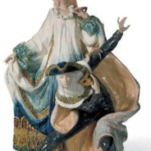 Porcellana artistica by Lladró. Coppia Carnevale veneziano