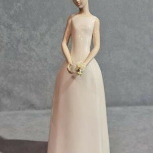 Lladró Porcellana artistica by Lladro.Figura, scultura donna. Sposa raggiante