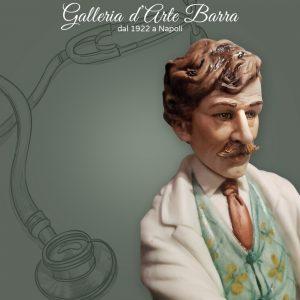 Porcellana di Capodimonte  Un Classico Dottore con siringa.