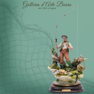 Porcellana di Capodimonte. IL Pescatore, realismo Unico