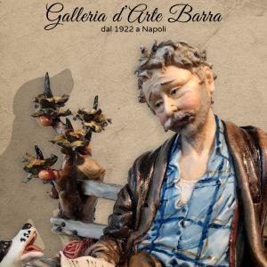 """Porcellana di Capodimonte """"Barbone su Panchina"""""""