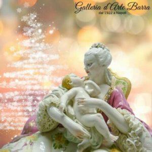 Porcellana Capodimonte. Grande Maternità porcellana Lucida Decoro esculsivo.