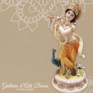 Porcellana Capodimonte. Divinità Indiane. Krishna, versione decorata