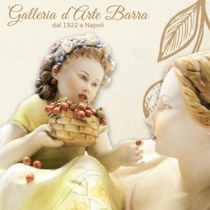 """Porcellana Capodimonte. Maternità """"CILIEGIE PER TE"""" originale creazione"""