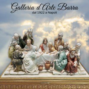 Porcellana di Capodimonte Ultima Cena Misure (LUNGHEZZA CM 41. ALTEZZA Cm 24)