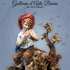 Porcellana di Capodimonte, IL Pifferaio e lo Scoiattolo