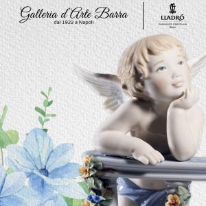 Lladró Porcellana artistica. Angeli celestiali al balcone. Ed Limitata