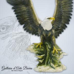 Porcellana di Capodimonte, Aquila di mare testa bianca.