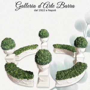 Porcellana di Capodimonte, Centro Tavola di prato verde