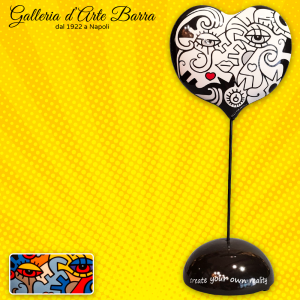 Porcellana artistica Pop art Cuore stelo double face by Billy the Artist.