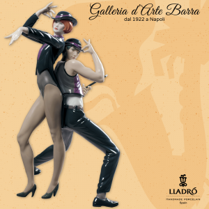 Lladró Porcellana artistica. Danza di Jazz. All that Jazz Dancing. Couple figurine