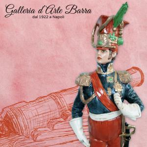 Soldato Porcellana Capodimonte, Uff. Guardia Imperial by Merli Serie Napoleonica