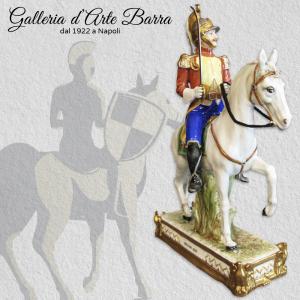 Porcellana di Capodimonte Soldato DRAGONE 1812  Guardia a Cavallo Napoleonica