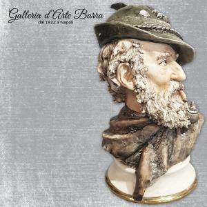 Porcellana di Capodimonte, Alpino, Testa, mezzo busto. Creazione Del Giglio. Raro
