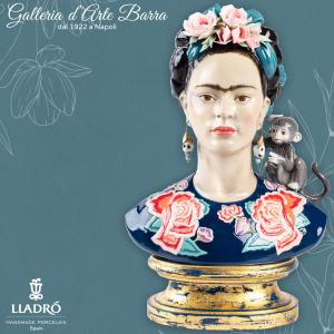 Lladró Porcellana artistica Lladro. Figura, Scultura, Busto Frida Kahlo (blu)