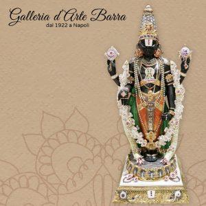 Porcellana Capodimonte. Divinità Indiane. LORD BALAJI  con Swarovsky crystals