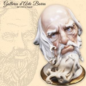 Porcellana di Capodimonte, Giuseppe Cappè. Testa Filosofo.