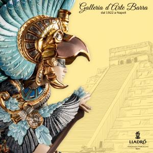 Lladró Porcellana by Lladro. Danza azteca. Scultura imponente. Serie Elite.