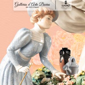 Lladró Porcellana artistica by Lladro. IL Mercato dei fiori Parigino. Imponente