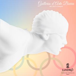 """Collezione Spirito Olimpico """"Realistico Nuotatore in Porcellana Bianca By LLadrò"""""""