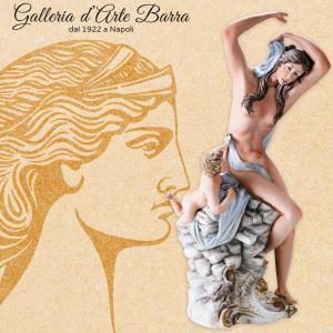 Porcellana Capodimonte Venere con Putto. Creazione imponente ed esclusiva.