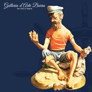Porcellana di Capodimonte, Marinaio, pescatore di Perle Creazione maestro Volta